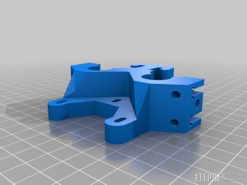 双皮带挤出机 3D模型  图3
