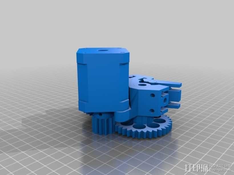 双皮带挤出机 3D模型  图4