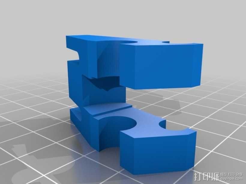 双皮带挤出机 3D模型  图7