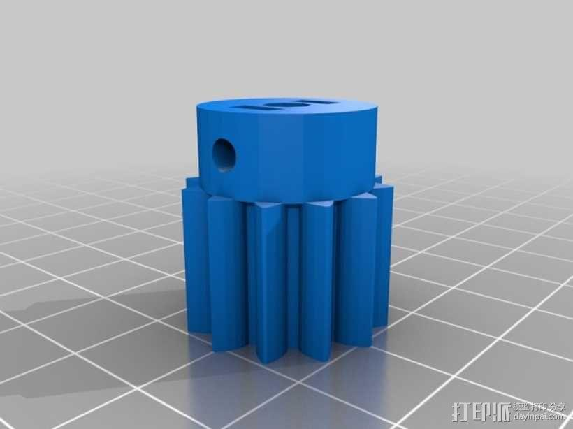 双皮带挤出机 3D模型  图6