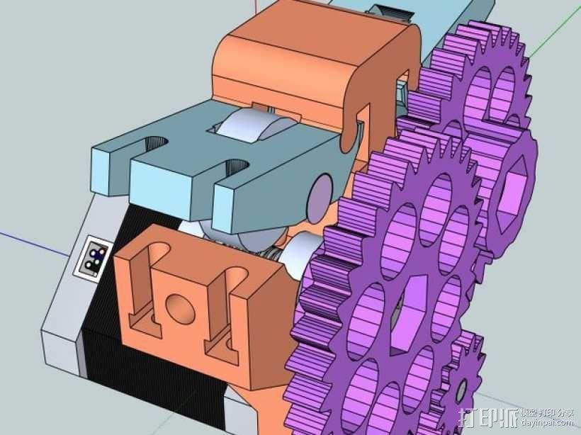 双皮带挤出机 3D模型  图9