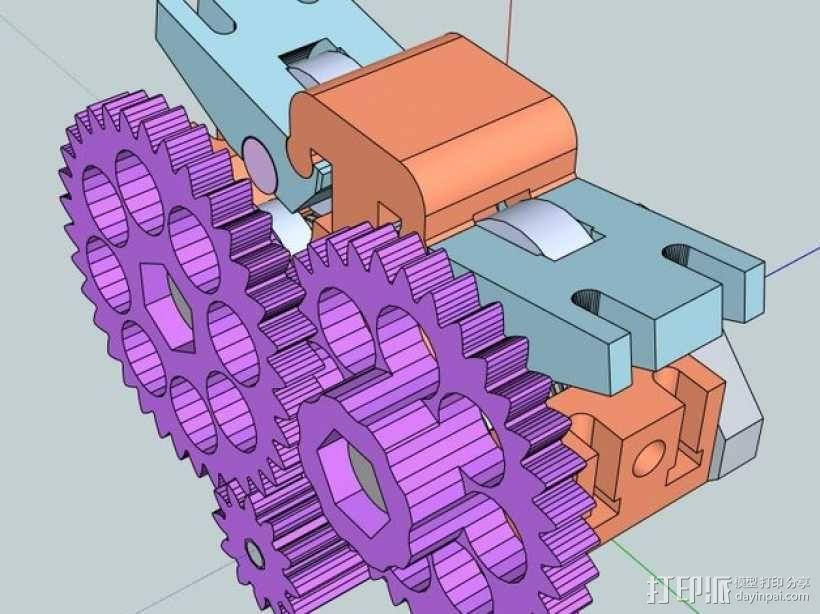 双皮带挤出机 3D模型  图10