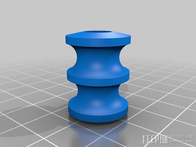 Ultimaker 2打印机导线轮 3D模型  图2