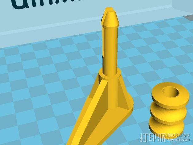 Ultimaker 2打印机导线轮 3D模型  图5