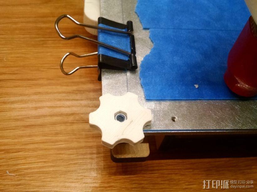 拇指旋轮 旋钮 3D模型  图1