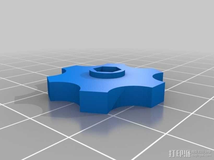 拇指旋轮 旋钮 3D模型  图3