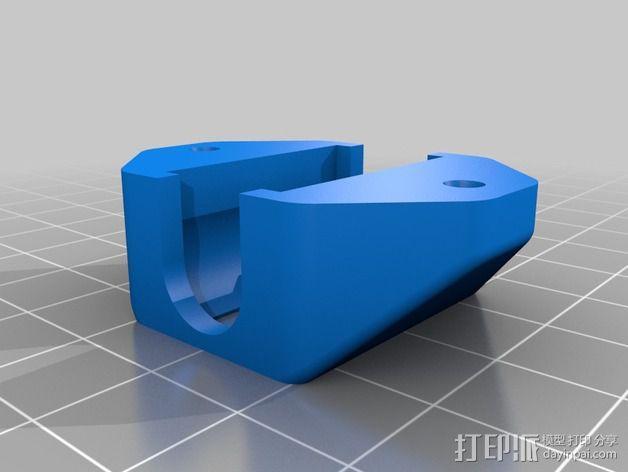 LM8UU轴承支撑 3D模型  图2