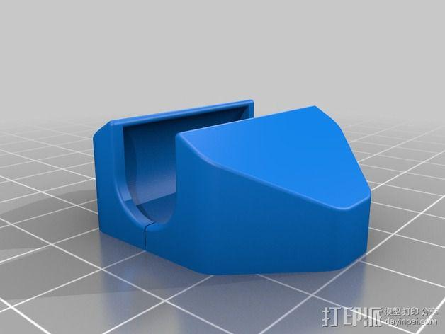 LM8UU轴承支撑 3D模型  图4