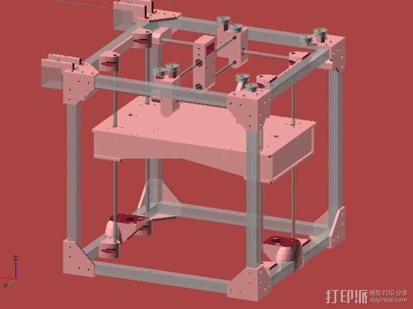 ScribbleJ CoreXY打印机 3D模型  图4