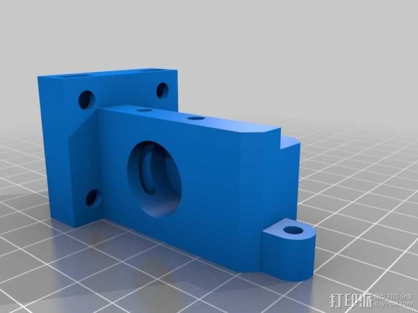 K字形挤出机安装架 3D模型  图3