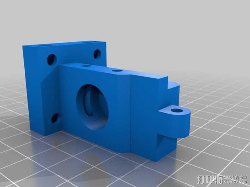 K字形挤出机安装架 3D模型  图2