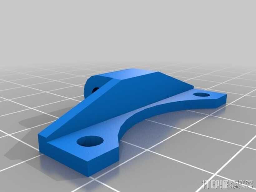 K字形挤出机安装架 3D模型  图5