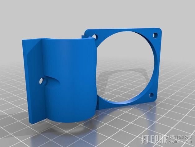 Robo3d打印机通风导管 3D模型  图2