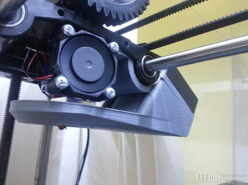 Robo3d打印机通风导管 3D模型  图1