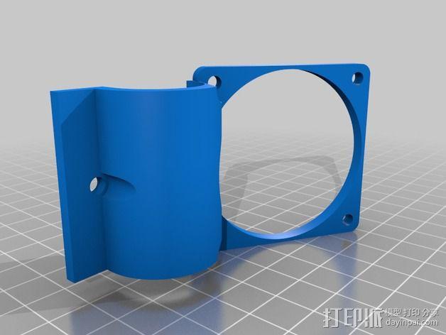 Robo3d打印机通风导管 3D模型  图5