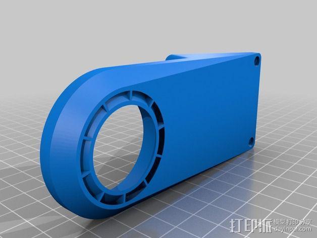 Robo3d打印机通风导管 3D模型  图4
