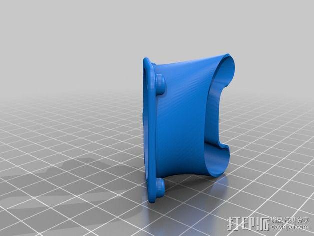 E3D V6固定槽 3D模型  图2