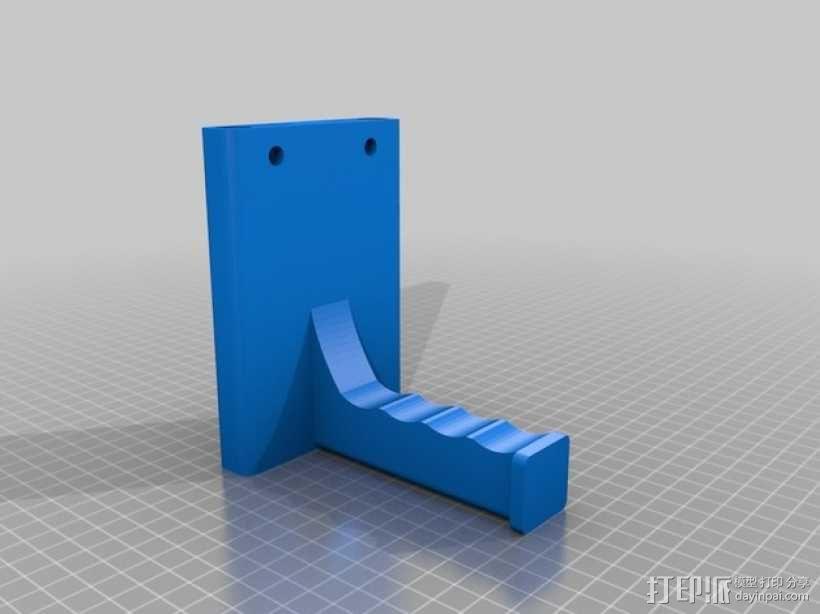 打印机器人简易金属杆支撑器 3D模型  图1