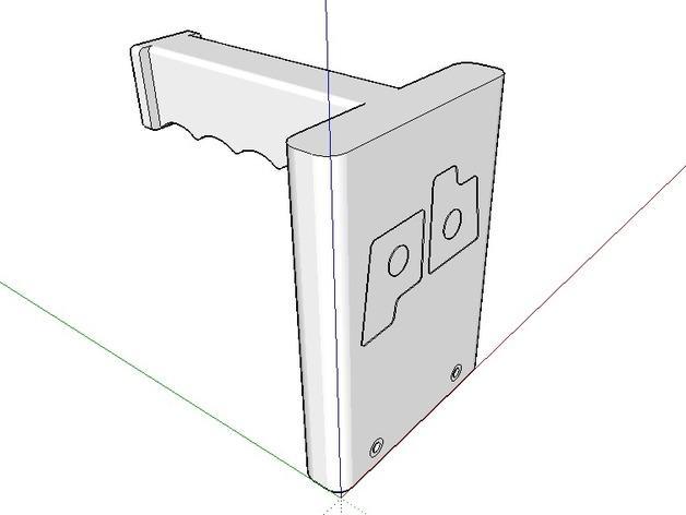 打印机器人简易金属杆支撑器 3D模型  图4