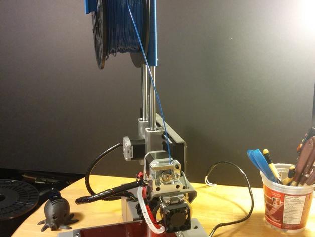 打印机器人简易金属杆支撑器 3D模型  图3