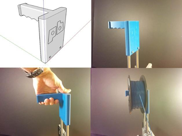 打印机器人简易金属杆支撑器 3D模型  图2
