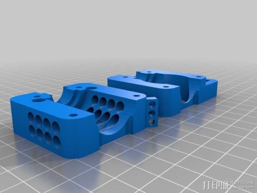 Bowden挤出机支架 风扇架 3D模型  图1
