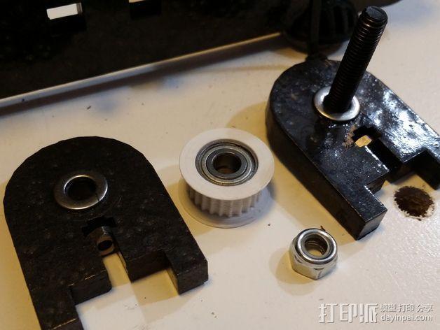 Prusa i3打印机 皮带导带器 3D模型  图3