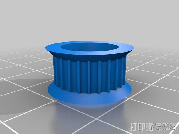 Prusa i3打印机 皮带导带器 3D模型  图6