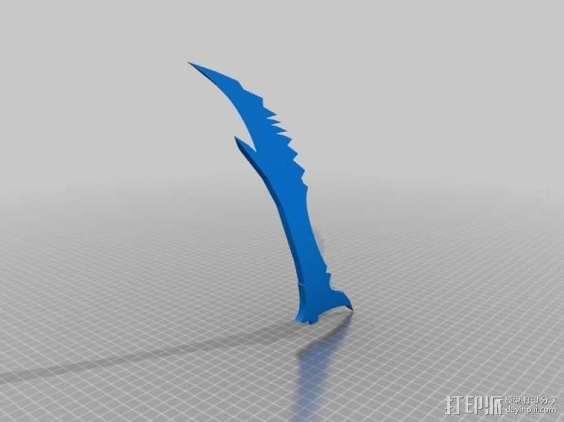Daedric Dagger 上古卷轴匕首 3D模型  图3