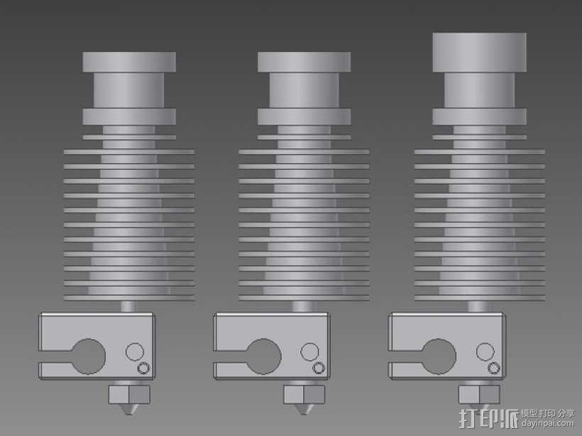 打印机E3D V6喷头  3D模型  图1