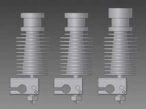 打印机E3D V6喷头  3D模型