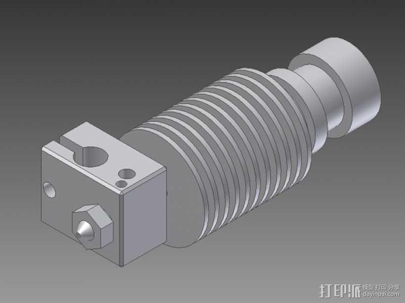打印机E3D V6喷头  3D模型  图6