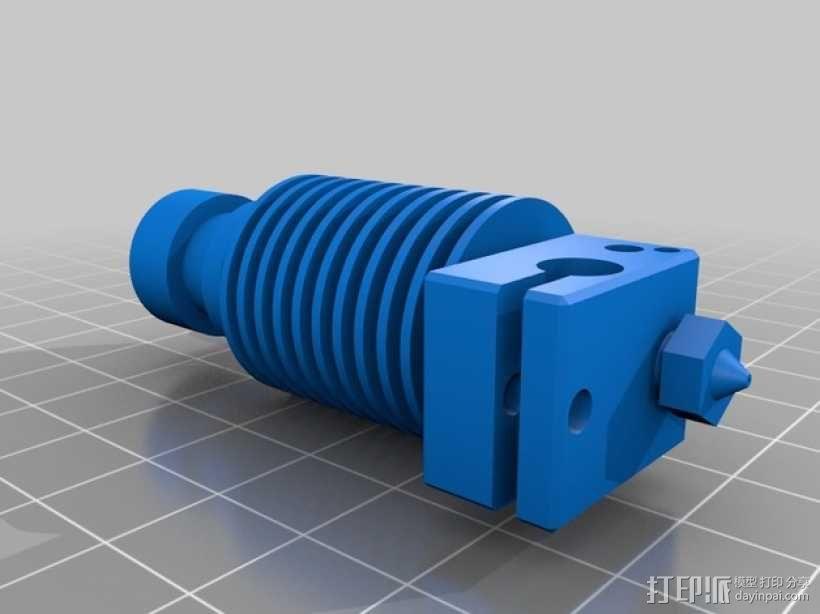 打印机E3D V6喷头  3D模型  图7