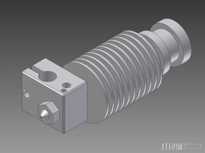 打印机E3D V6喷头  3D模型  图8