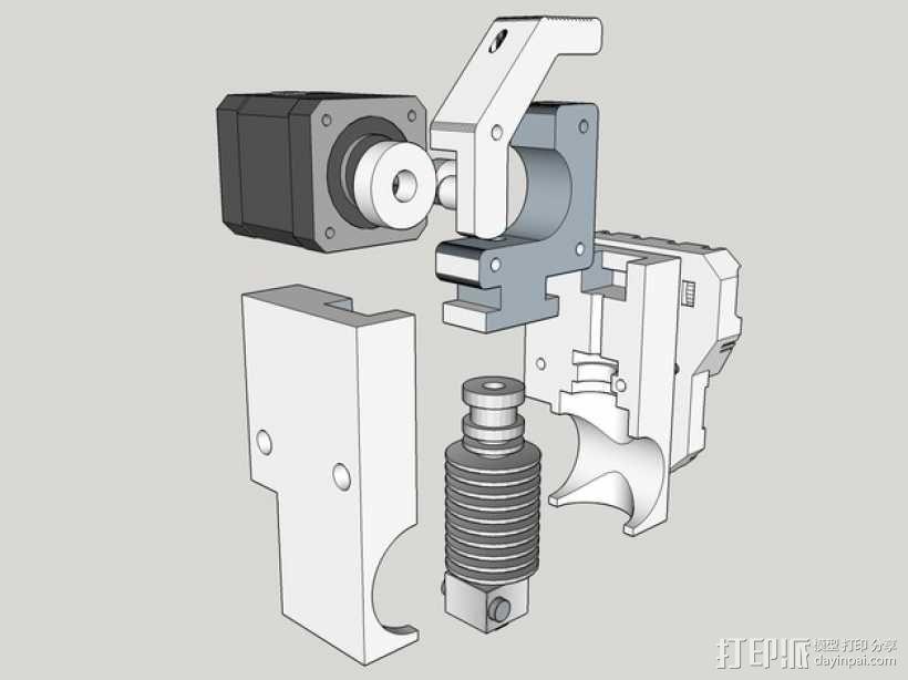 直线挤出机 3D模型  图1