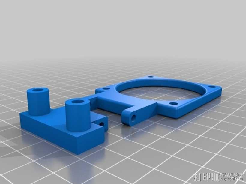 Prusa i3 打印机X轴框架 3D模型  图5