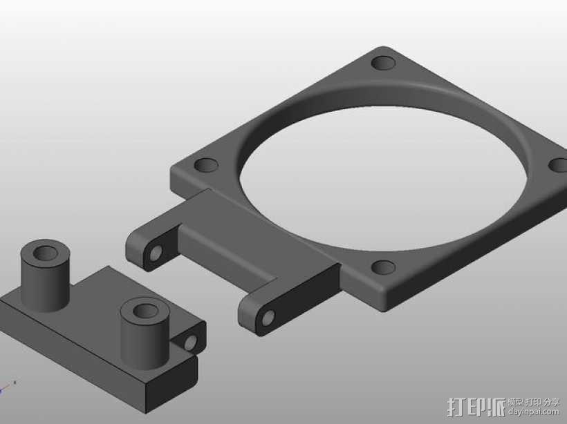 Prusa i3 打印机X轴框架 3D模型  图9