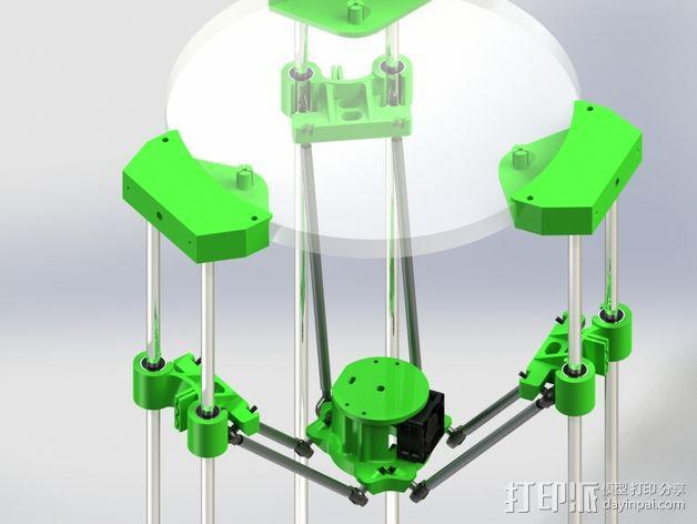 deLtabot 3D 打印机 3D模型  图1