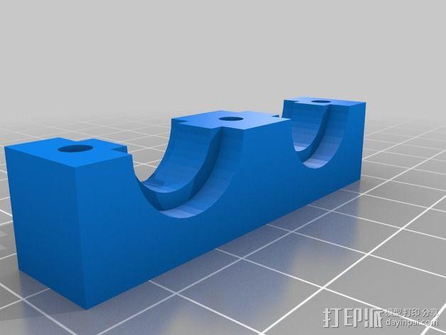 挤出机喷嘴架 3D模型  图2