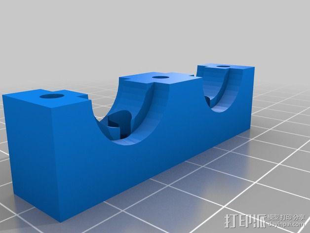 挤出机喷嘴架 3D模型  图3