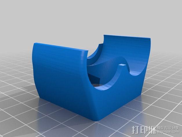 挤出机喷嘴架 3D模型  图4