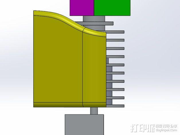 挤出机喷嘴架 3D模型  图7
