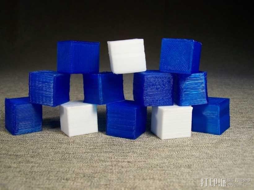 中空刻度块 3D模型  图1