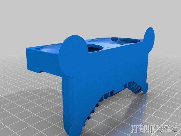 Makerbot Replicator 2x 打印机风扇 3D模型  图2