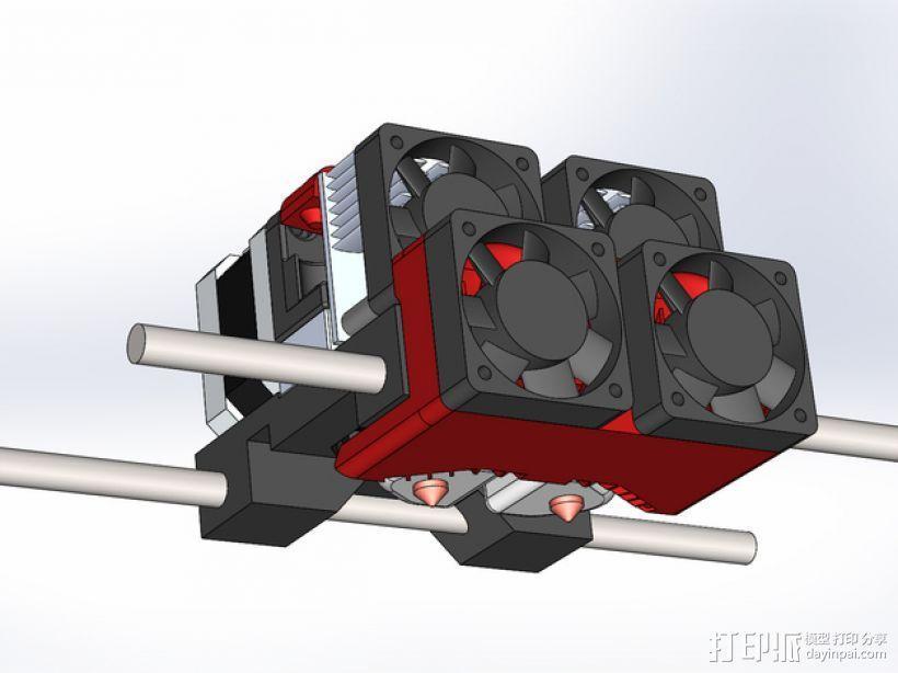 Makerbot Replicator 2x 打印机风扇 3D模型  图1