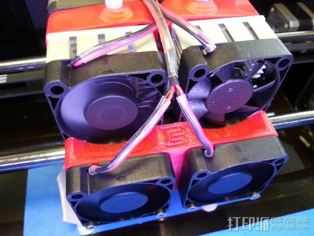 Makerbot Replicator 2x 打印机风扇 3D模型  图8