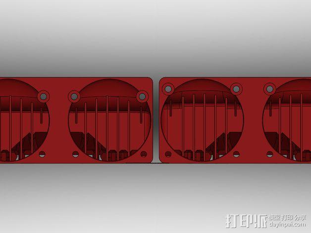 Makerbot Replicator 2x 打印机风扇 3D模型  图10