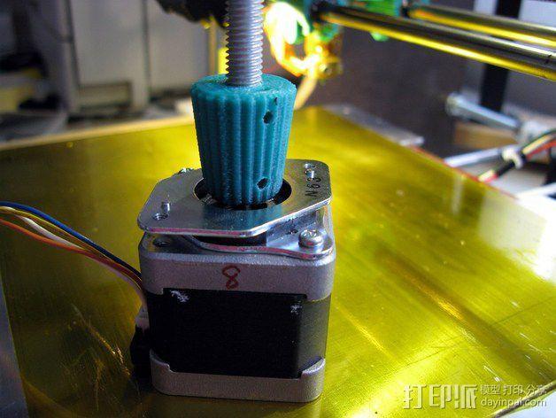 凸边齿轮旋钮 3D模型  图4