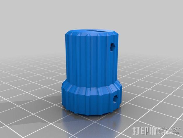 凸边齿轮旋钮 3D模型  图9