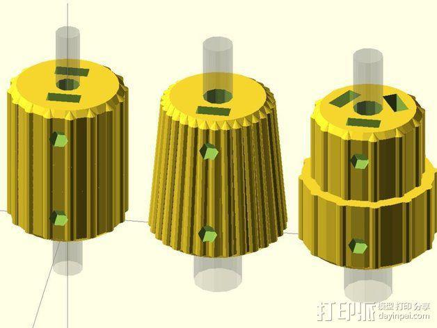 凸边齿轮旋钮 3D模型  图8